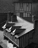 Vannes; some old city roofs.
