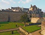 Vannes; the walls (remparts) of the historic city.