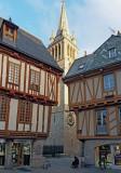 Vannes; Saint Pierre de Vannes cathedral in the backgorund.