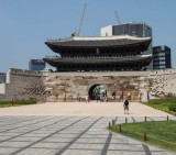 Seoul: the Namdaemun gate, in downtown.