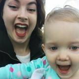 Lisa & Mia making camera faces