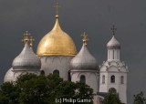 Domes of the 11th century Cathedral of St Sophia