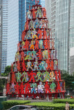 Sculpture in the financial district, Singapore