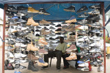 Shoe stall at the Broadhurst Mall, Gaborone