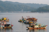 Fishing vessels in the harbour at Kota Kinabalu