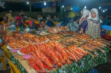 Seafood spread at the Night Market, Kota Kinabalu