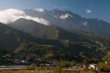 Mt Kinabalu (4,095m) looms over Kundasang Valley