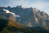 Peaks of Mt Kinabalu, seen from the Kundasang Valley