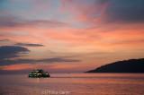 Sunset over the harbour and islands, Kota Kinabalu