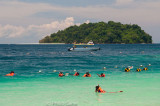 Weekend frolics in the turquoise waters off Kota Kinabalu