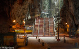Inside the main cave at Batu Caves, a place of worship for Malaysian Hindus