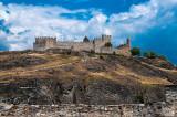 The ruined Chateau de Tourbillon, Sion