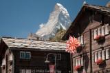 The Matterhorn towers over the tourist town of Zermatt