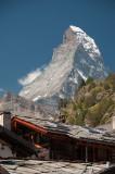 The Matterhorn looming over Zermatt