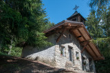 Mountainside chapel on the Bisse du Torrent-Neuf,  a centuries-old irrigation channel