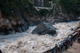 Viewing area at Tiger Leaping Gorge