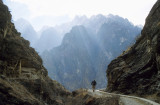 A bend on the Upper Track, Tiger Leaping Gorge, 2004