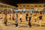 Evening dance party in Shangri-La, in a square which was once a caravanserai