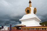 Giant modern stupa in Shangri-La, clearly government-sponsored