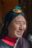 Woman visiting the Norbulingka