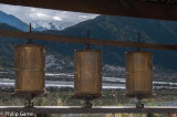 Buddhist prayer wheels at Xiuba