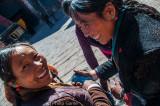 Tibetan pilgrims at Sakya