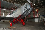 Replica of a De Havilland DH61 biplane operated by Qantas in the 1930s