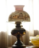 Backlit Lamp With Painted Shade