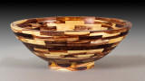 Approx. 12 inch laminated bowl made with 118 pieces of Caragana.