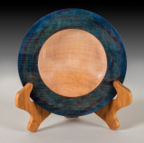Maple bowl with colored rim.
