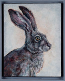 Acrylic painting of a hare.