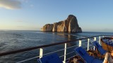 Sailing by Kicker Rock on the Galapagos Legend