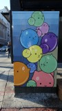 Decorated utility box at Taylor and Turk Streets