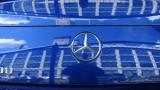 Blue Mercedes-Benz