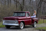 1964 Chevy Pickup and a Pretty Girl