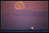 Super Moon Setting from Helsingborg
