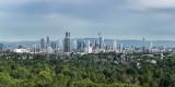 Blick vom Stadtwald auf Frankfurt