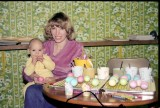 1982 - Richard and Ginny coloring Easter Eggs