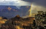 Double rainbow near Mather Point, Grand Canyon National Park, AZ