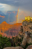 Double Rainbow along the South Rim, Grand Canyon National Park, AZ