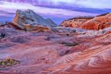 After sunset glow, White Pocket, Vermilion Cliffs National Monument, AZ