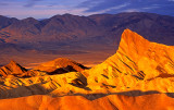 Manley Beacon at sunrise, Zabriskie Point, Death Valley National Park, CA