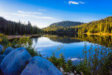 Reflection Lake at Sunset -L