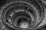 Vatican Museum staircase.