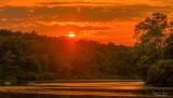 Sunset at Green Lane, Pennsylvania.