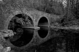 Old stone bridge over the Wissahickon creek. Pennsylvania.