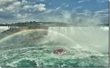 Niagara Falls and American Falls far left.