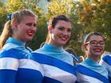 Grand Valley State University Marching Band and Dancers at Art prize 2107, in Grand Rapids Michigan