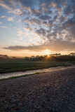 Sunrise by the river Otter