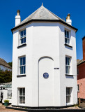 Budleigh Salterton where the painting of 'The Boyhood of Raleigh' was created